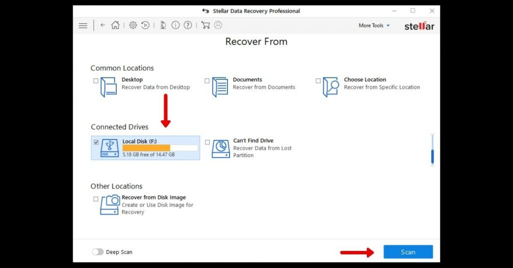 Data Recovery from corrupted pen drive step 2