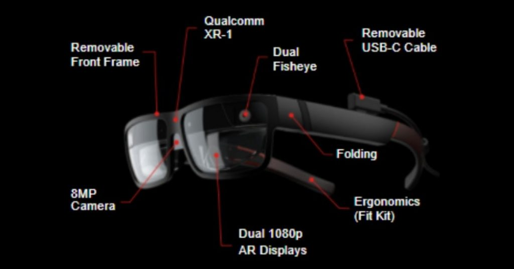 The ThinkReality A3 Smart Glasses