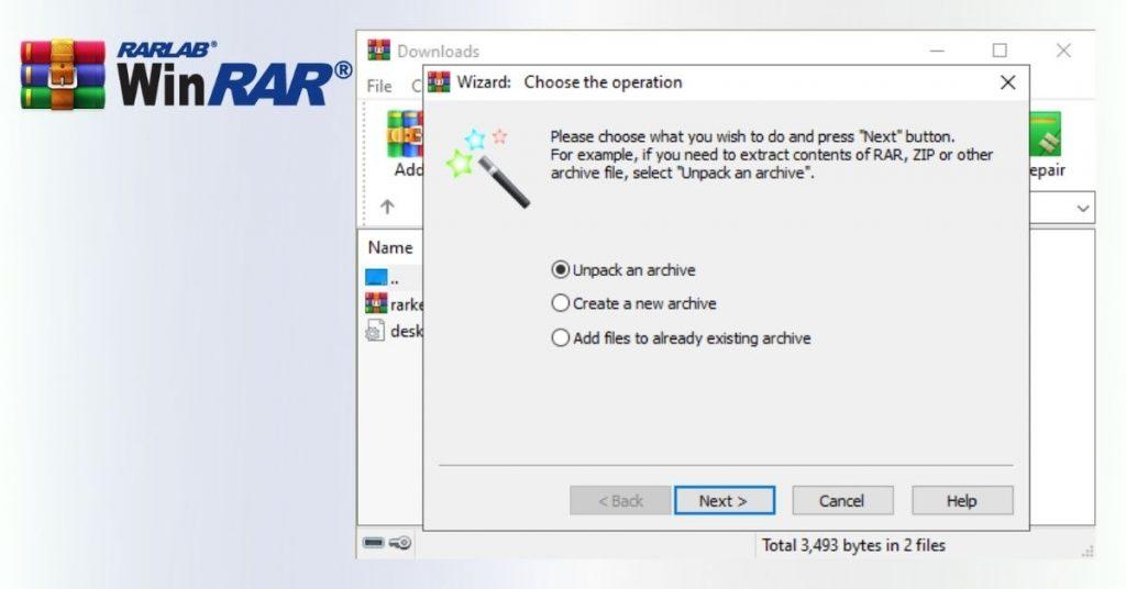 WinRAR Criando um Arquivo